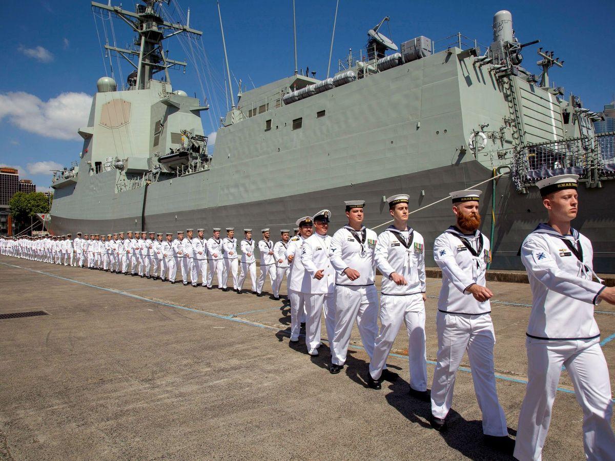 Foto: Destructor de la Armada de Australia basado en la fragata F100 de Navantia. (EFE)