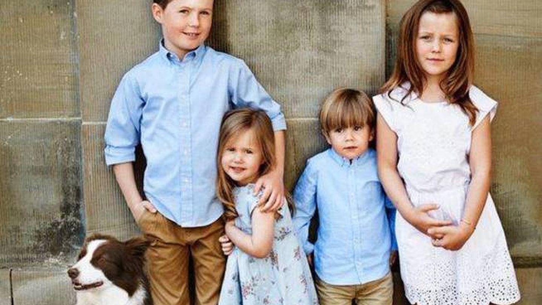 Los cuatro príncipes junto a Ziggy. (Gtres)