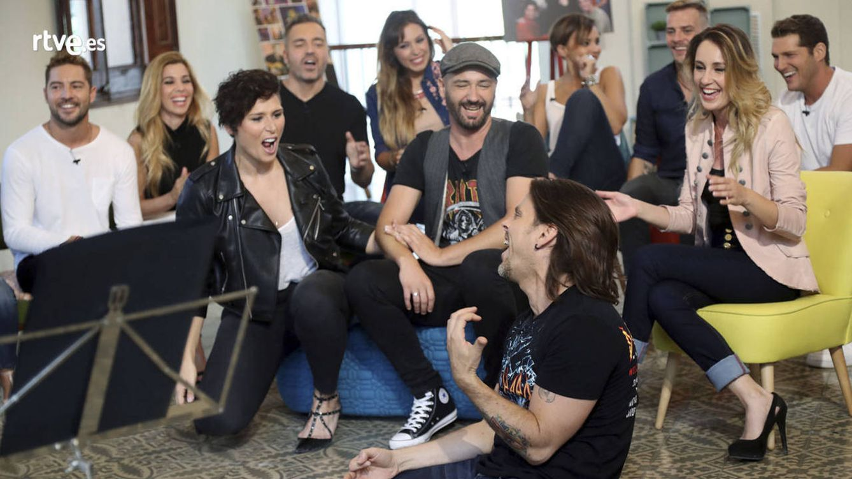 Foto: Varios concursantes de 'OT' en el primer documental (RTVE)