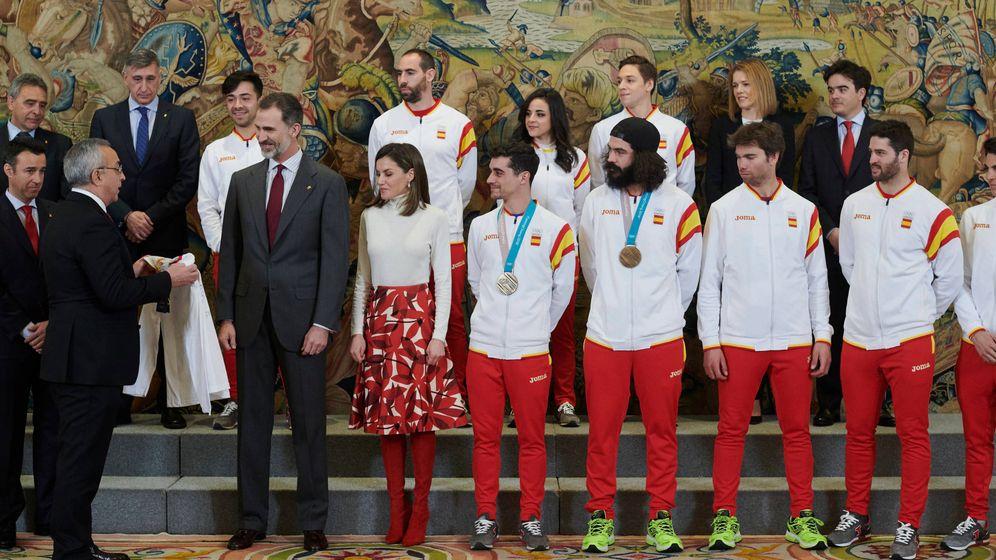 Foto: Los Reyes reciben al equipo de los Juegos Olímpicos de PyeongChang