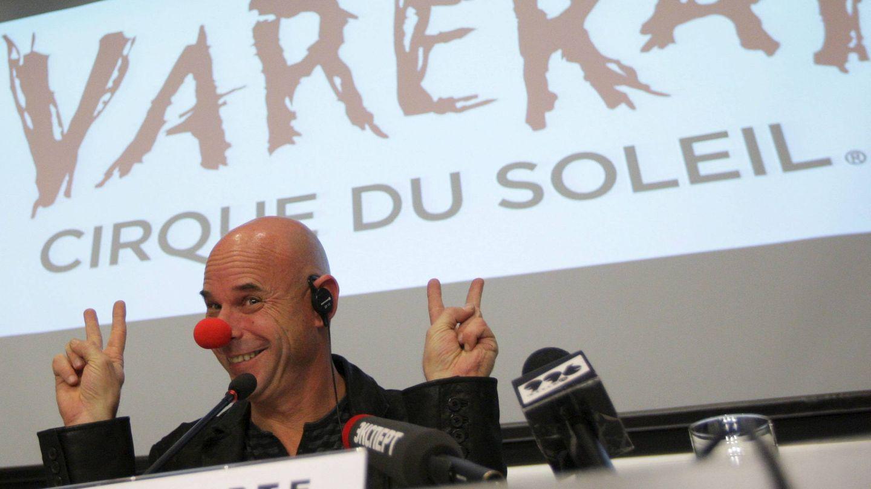 Guy Laliberté en una conferencia de prensa en Moscú en 2009. (EFE)