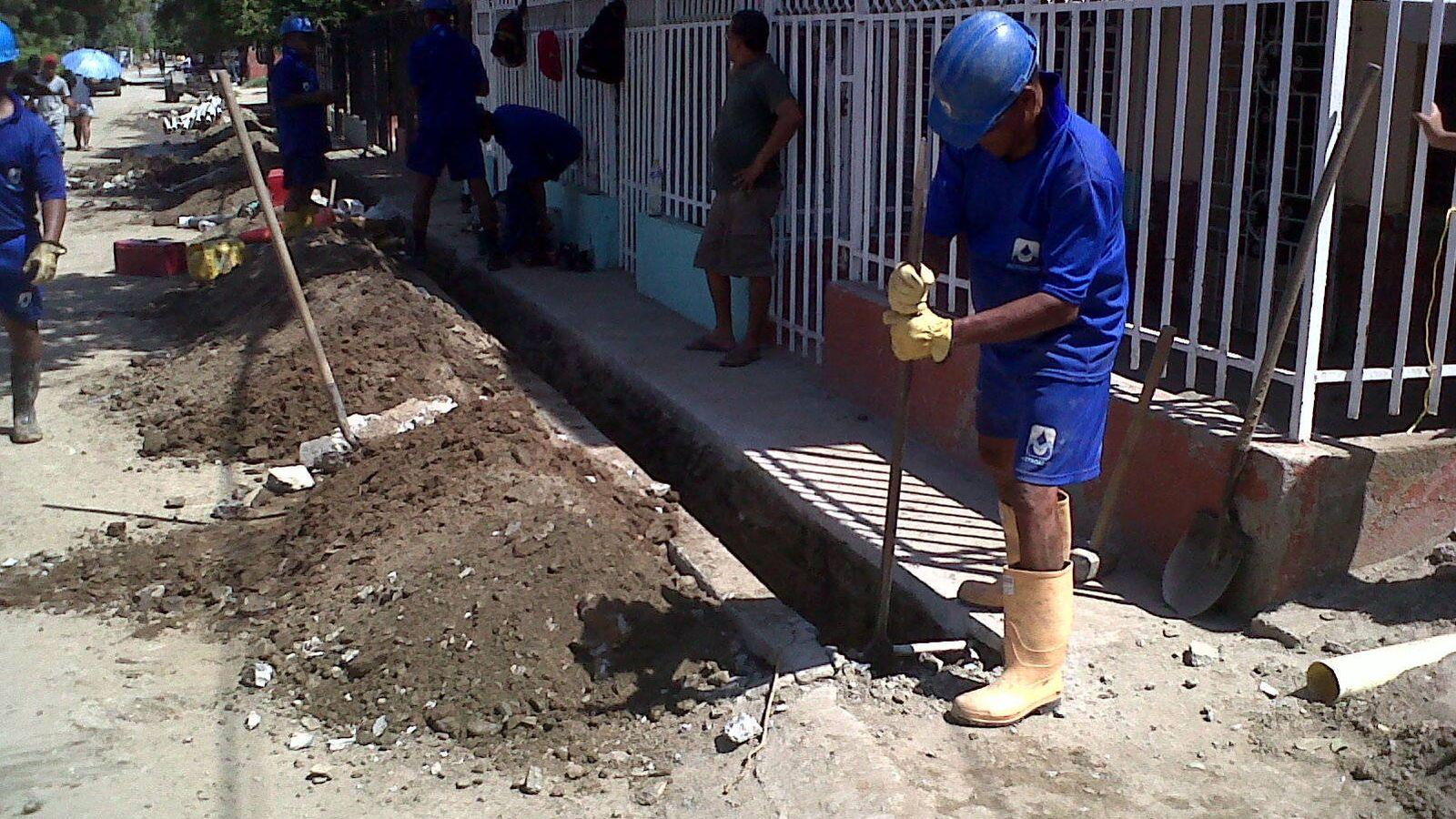 Foto: Trabajadores de la empresa Metroagua.