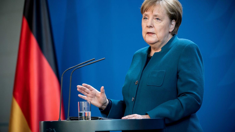 Angela Merkel, canciller alemana, durante una rueda de prensa. (Reuters)