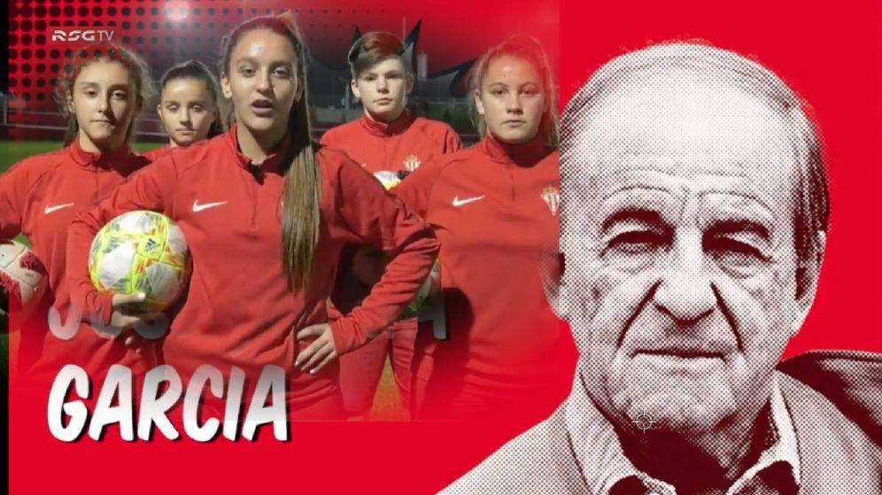 Foto: Las futbolistas del Sporting de Gijón aceptaron el reto de José María García