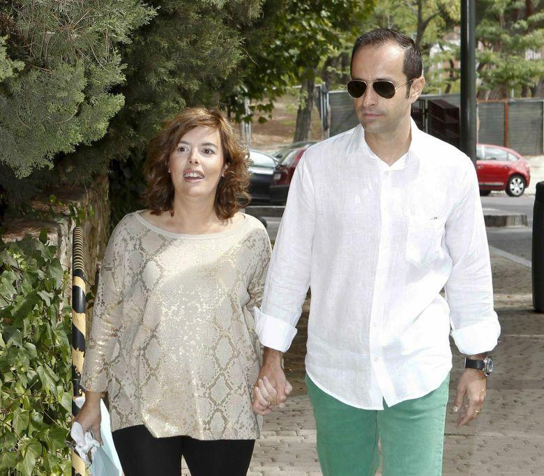 Soraya Saenz de Santa María y su marido, el abogado José Iván Rosa, en una imagen de archivo (I.C.)
