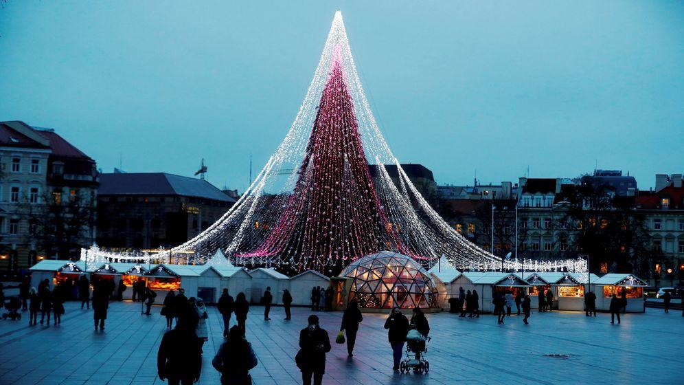 Foto: Vilna durante la Navidad (Reuters)