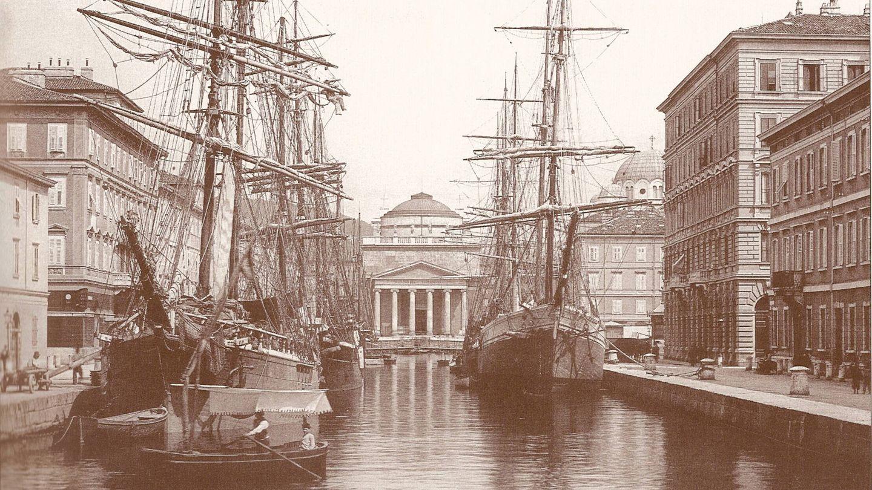 Canal Grande de Trieste alrededor de 1900.