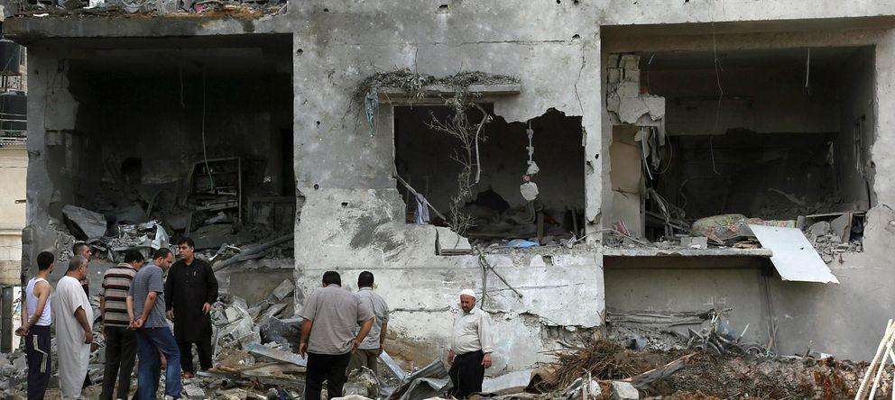 Foto: Continúa este domingo la ofensiva sobre Gaza (Efe).