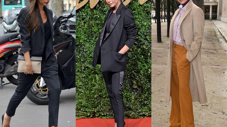 Con traje de chaqueta, esmoquin o en versión retro, Victoria en su máximo esplendor.