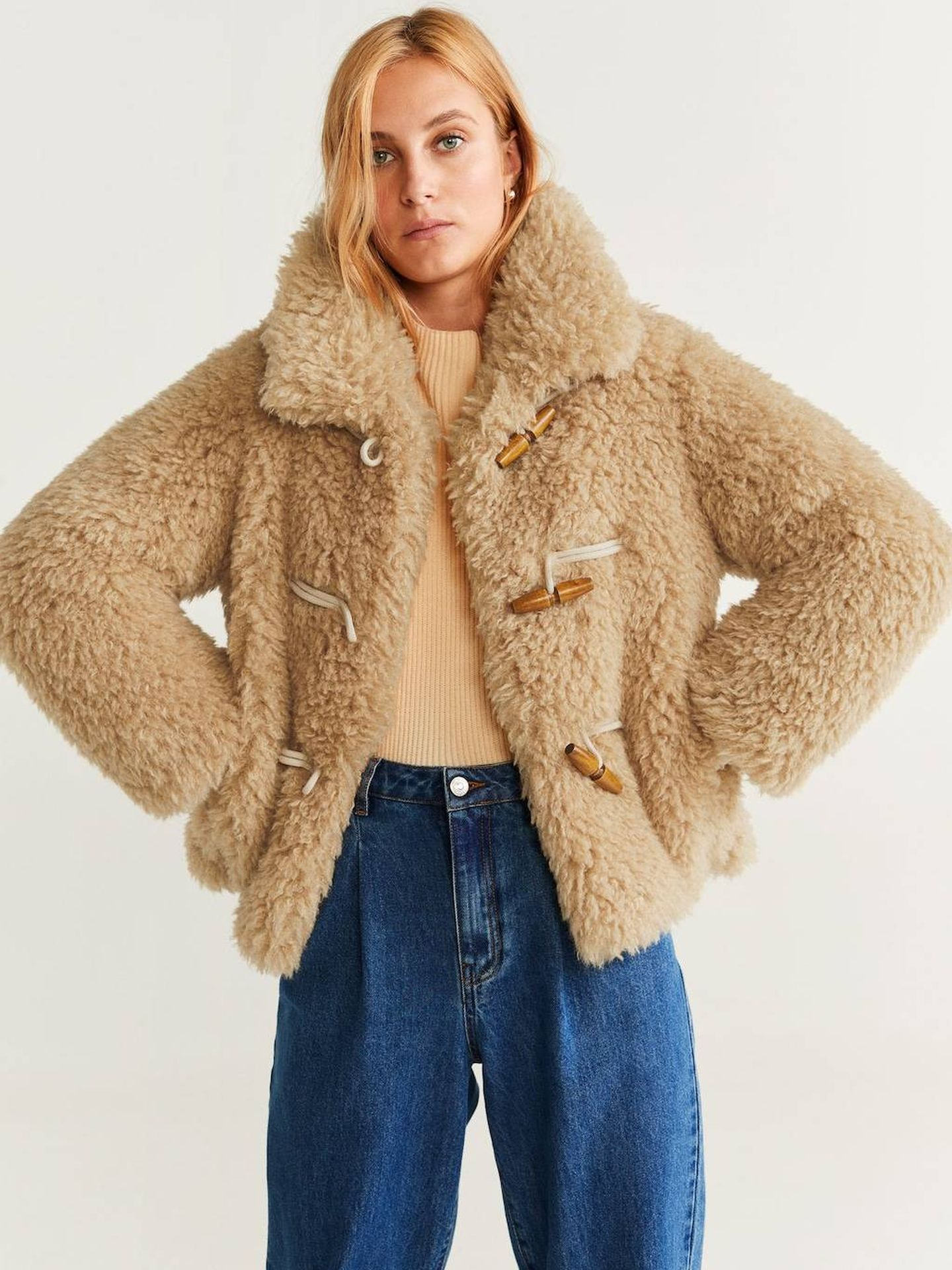 La chaqueta de Mango Outlet. (Cortesía)