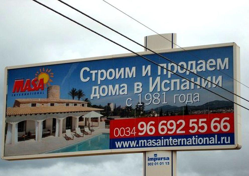 Foto: Anuncio inmobiliario en ruso en Santa Pola, Alicante. (foto: Nenuca Daganzo)
