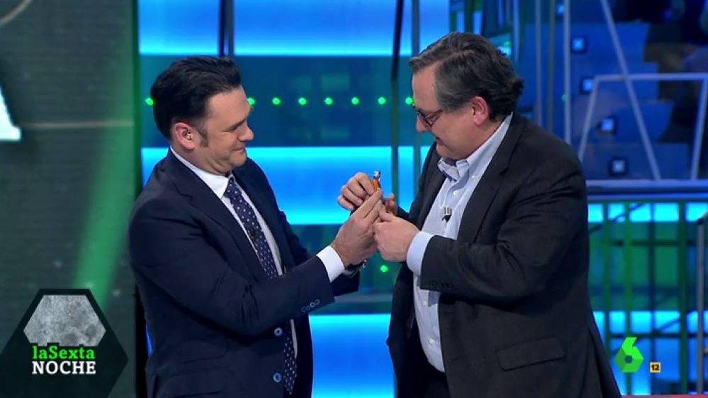 Iñaki López y Francisco Marhuenda, en 'La Sexta noche'. (Atresmedia).