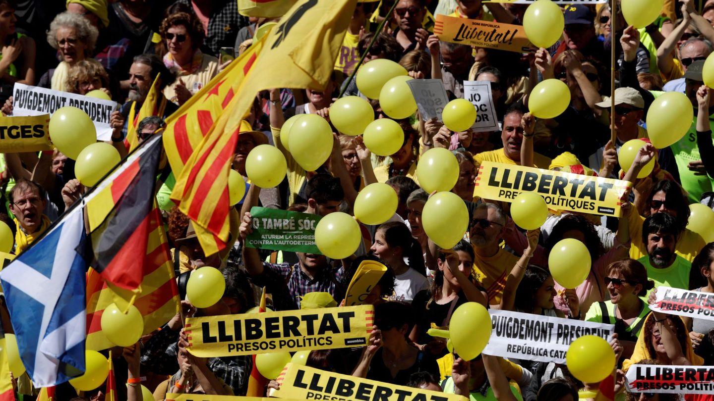Manifestación de este domingo en Barcelona. (EFE)