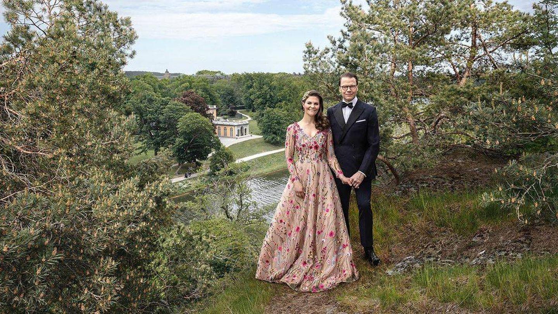 Victoria y Daniel de Suecia, en una estampa idílica. (Instagram @Kungahuset)