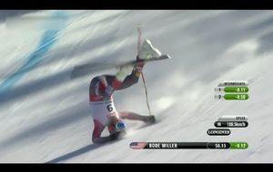 La aparatosa caía de Bode Miller en el Mundial de esquí
