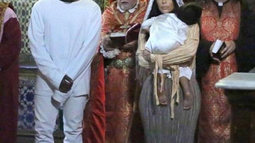 Facebook - Las imágenes nunca vistas del bautizo de la hija de Kim Kardashian y Kanye West