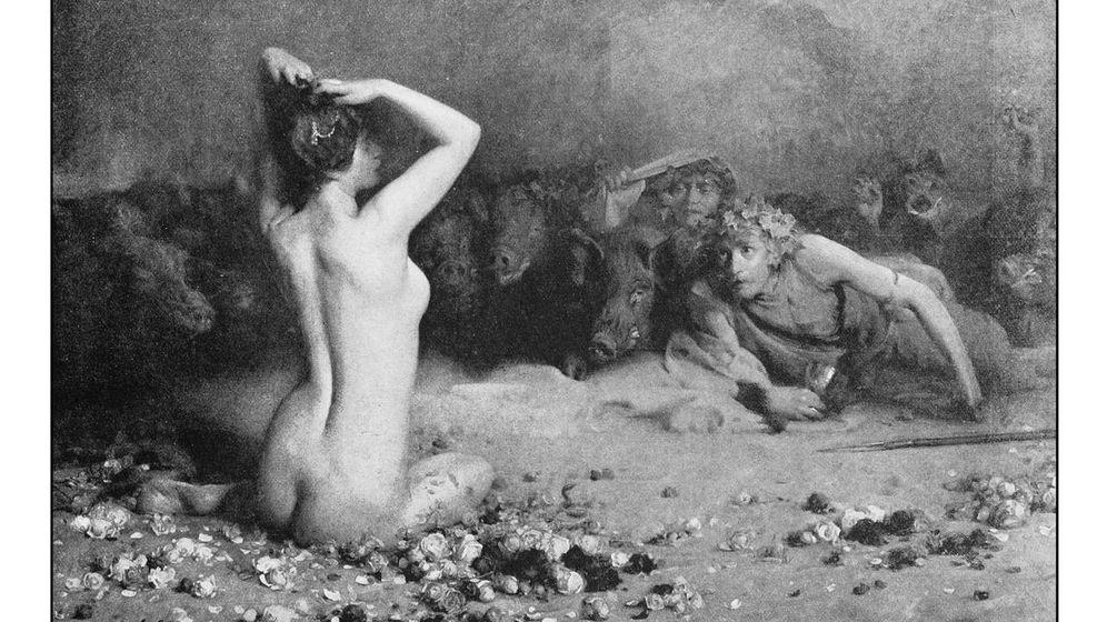 Foto: Antigua pintura de la diosa griega Circe, protagonista de la novela. (iStock)