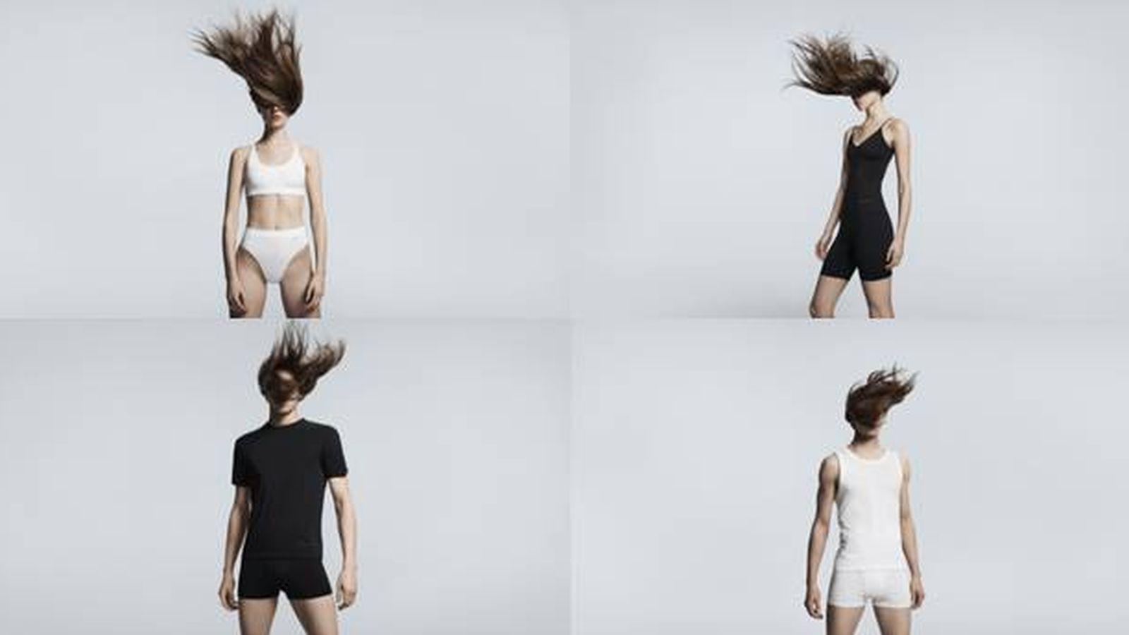 Foto: La colección de ropa interior de Alexander Wang para Uniqlo. (Cortesía)