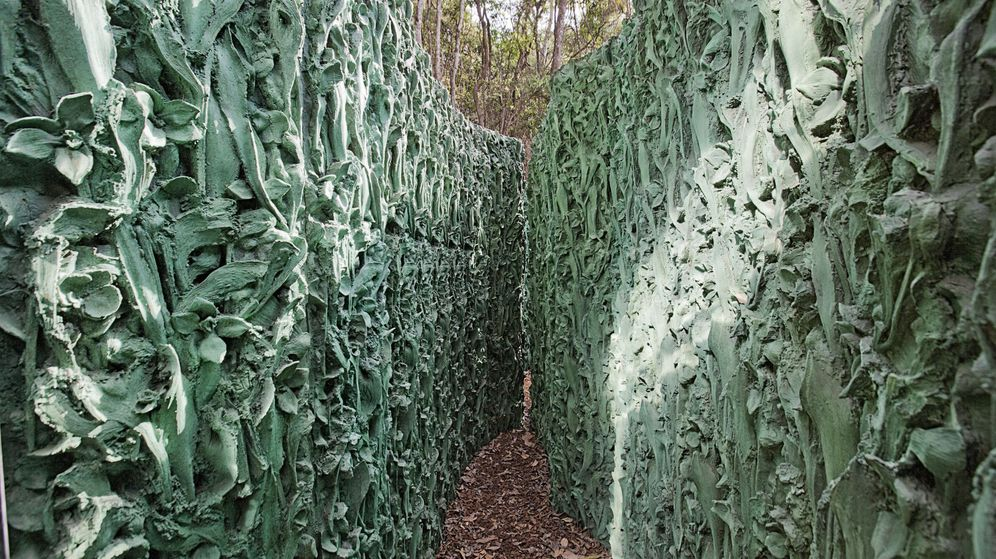 Foto: Fotografía cedida de la obra El laberinto Habitación vegetal Inhotim (2010-2012), una de las obras de la artista vasca Cristina Iglesias. (EFE)