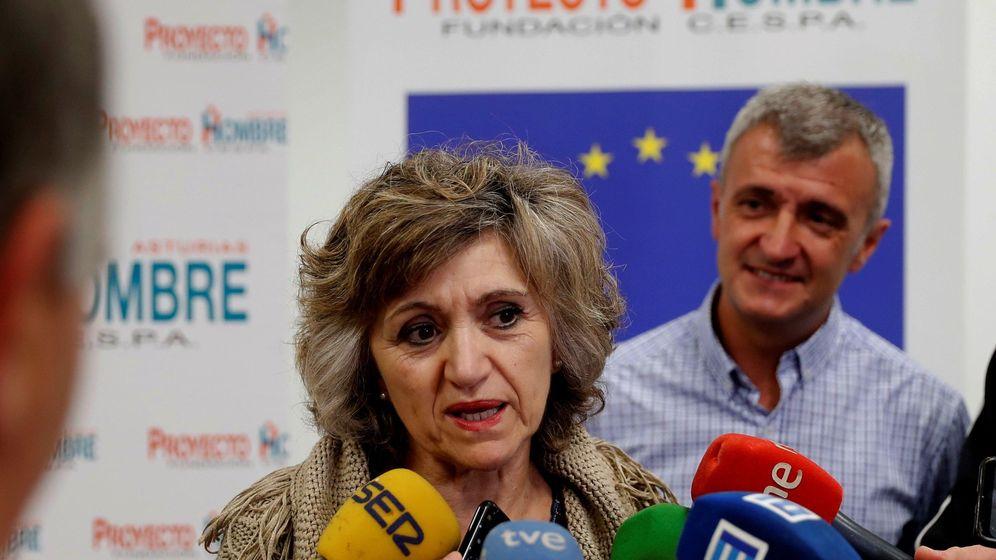 Foto: La ministra Carcedo, en Proyecto Hombre. (EFE)
