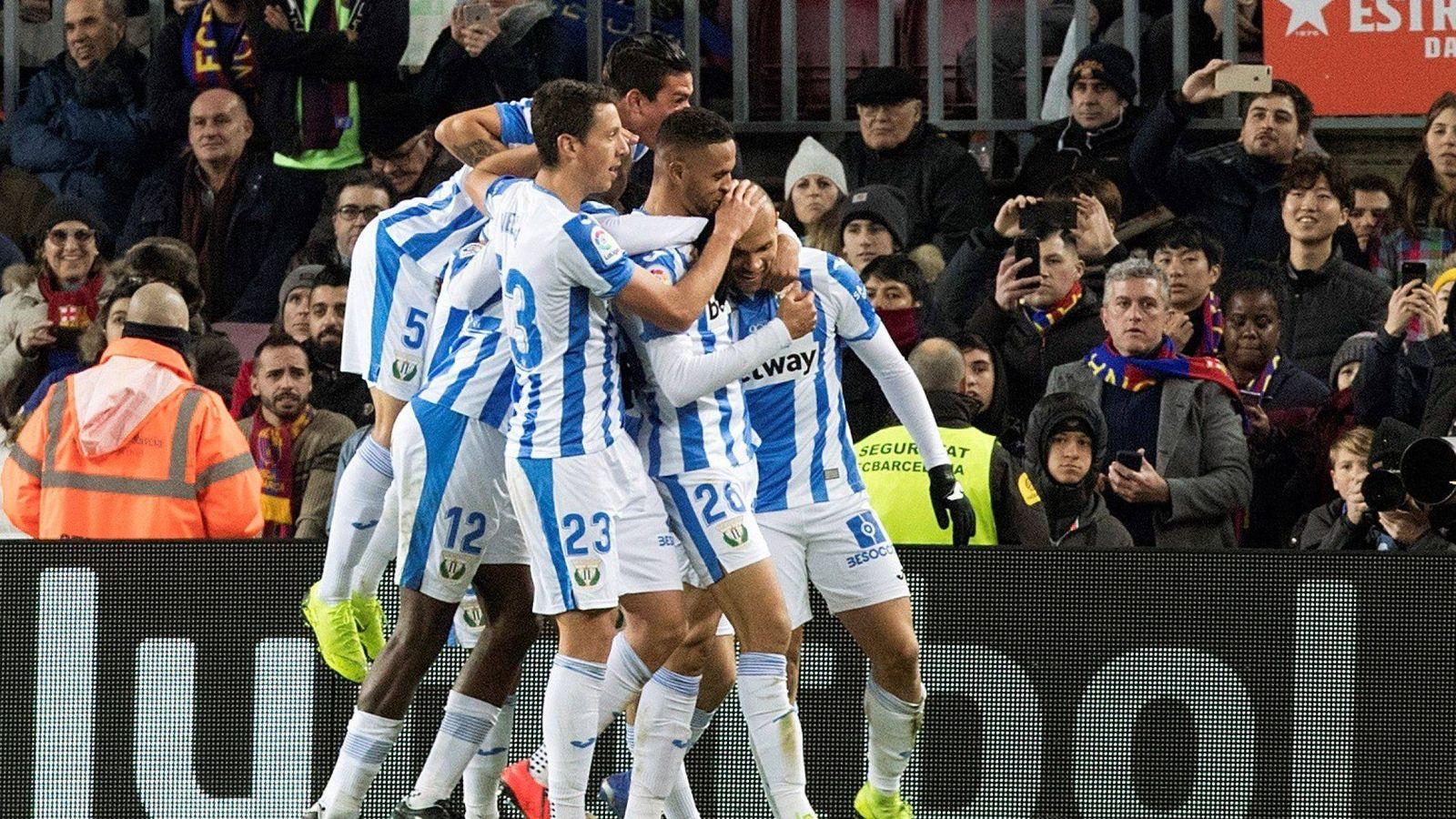 Foto: Jugadores del Leganés celebran un gol. (EFE)