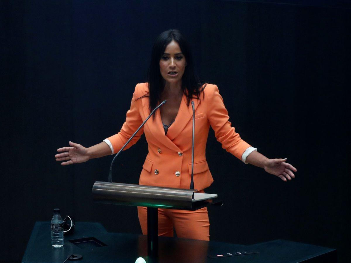 Foto: Begoña Villacís, en el debate del estado de la ciudad. (EFE)