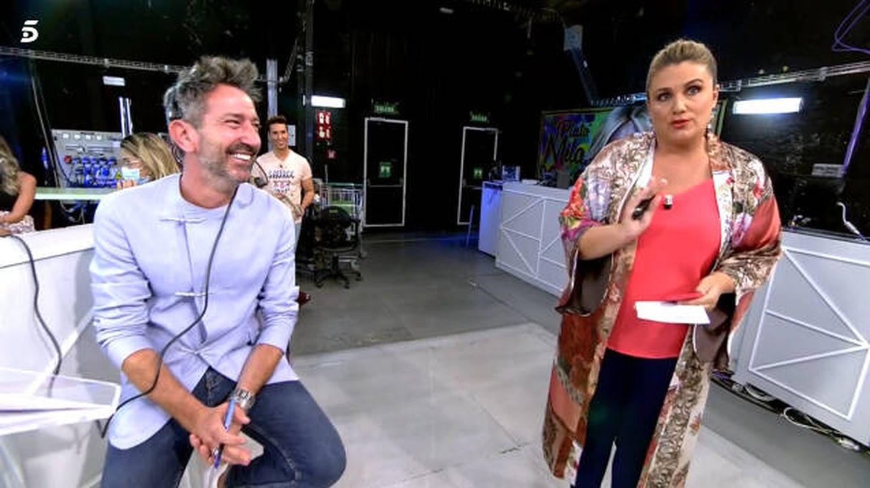David Valldeperas y Carlota Corredera, en 'Sálvame'. (Telecinco)