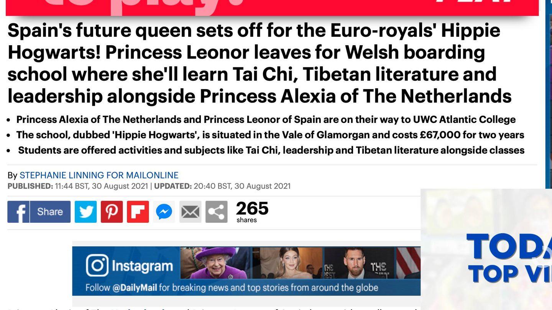 La noticia del 'Daily Mail'.
