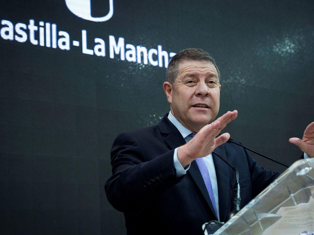 Foto: El presidente de Castilla-La Mancha, Emiliano García-Page, este 22 de enero en Fitur, Madrid. (EFE)