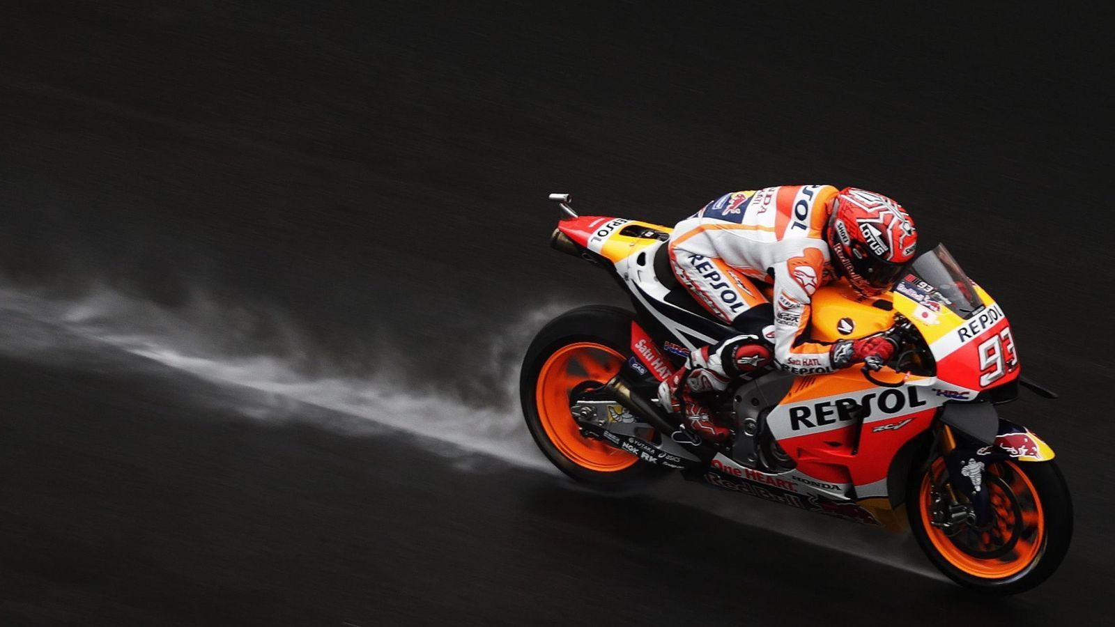 Foto: Marc Márquez, durante una sesión de entrenamientos en el Gran Premio de Malasia. (EFE)