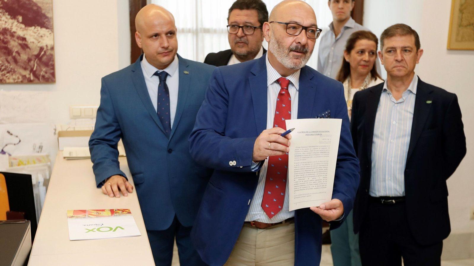 Foto: Vox registra su enmienda al presupuesto andaluz. (EFE)