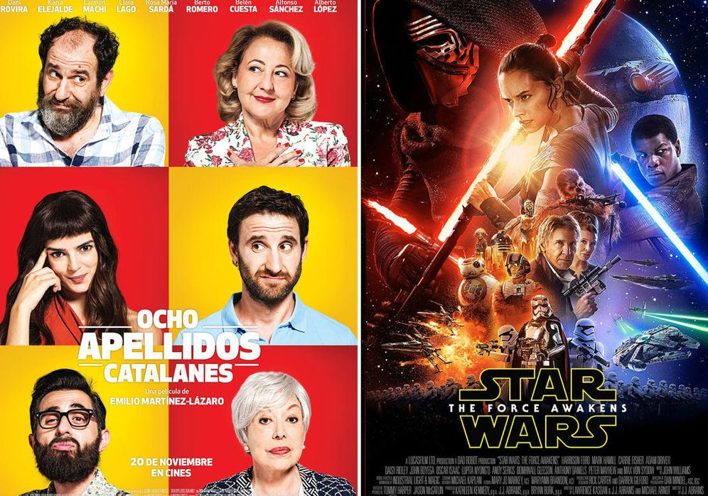 Foto:  'Star Wars' y 'Ocho apellidos catalanes' lucharán por ser la película más taquillera del año