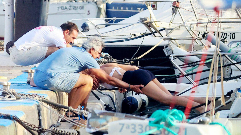 Ana Soria rescatada por Enrique Ponce. (Contacto Photo)