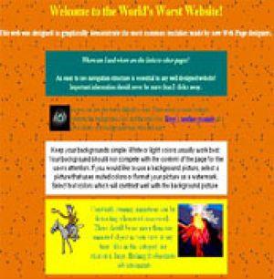 Se busca la peor página web del mundo