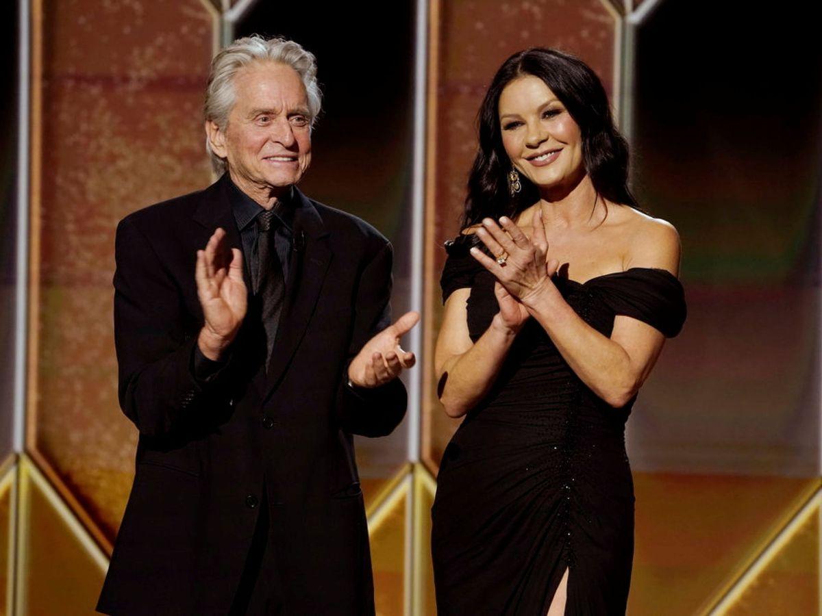 Foto: Michael Douglas y Catherine Zeta-Jones, en los Globos de Oro. (Reuters)