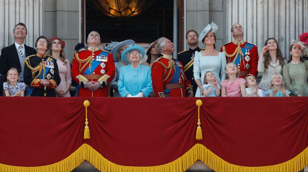 Foto: La familia real en el Trooping the Colour. (Reuters)