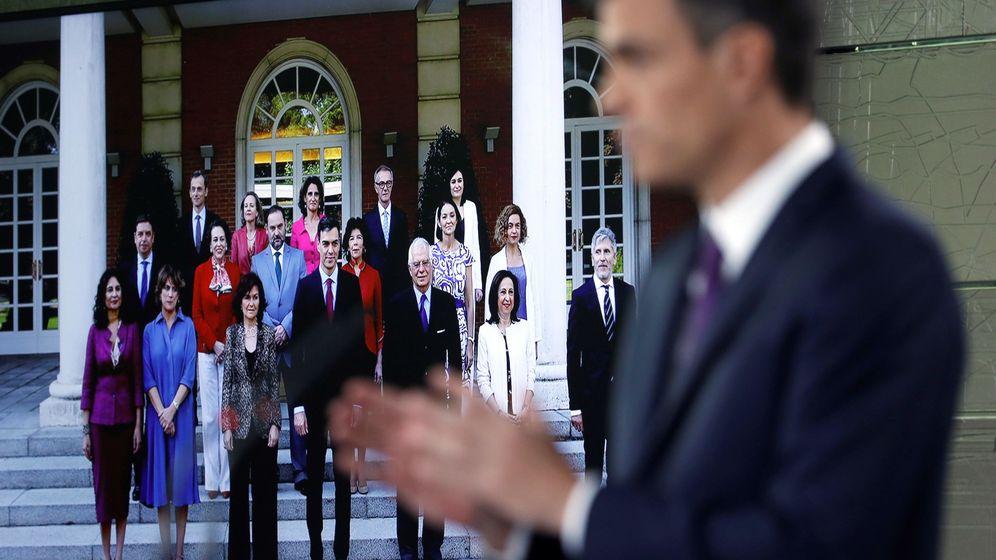 Foto: El presidente del Gobierno, Pedro Sánchez, este viernes, durante el balance que realizó de su gestión en el Ejecutivo. (EFE)