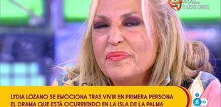 Post de Lydia Lozano rompe a llorar tras el apoyo de Carlota por su drama en La Palma