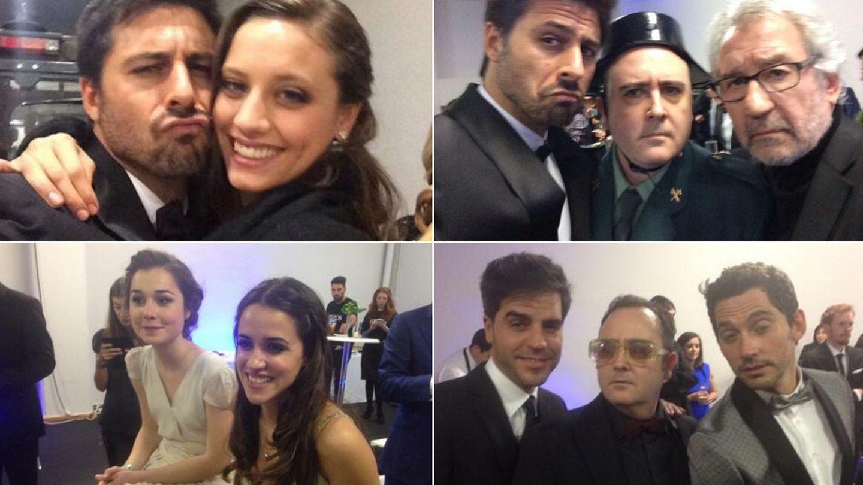 Hugo Silva, Michelle Henner, Nadia de Santiago, Macarena García, Ernesto Sevilla, Carlos Areces y Paco León (Twitter)