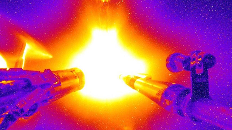 Foto: Una imagen del comienzo de los experimentos que ahora ha llegado a este punto (National Ignition Facility)