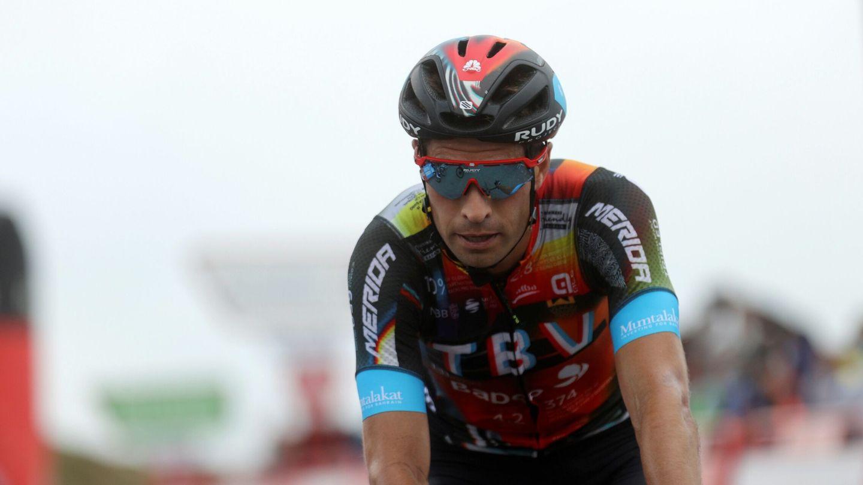 Mikel Landa, durante el recorrido de La Vuelta. (Efe)