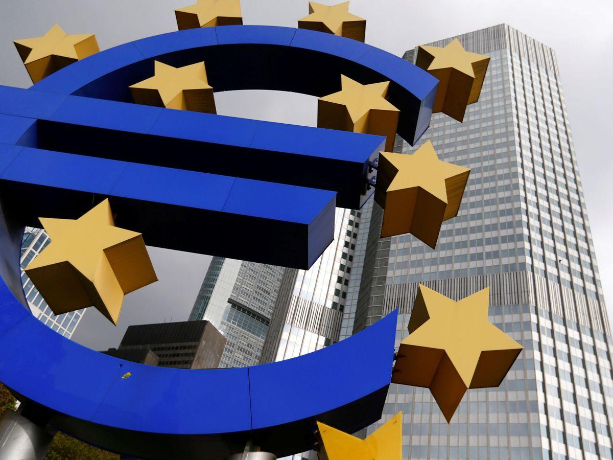 Foto: Imagen del euro en Fráncfort. (Reuters)
