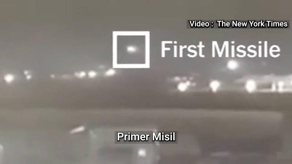 Foto: En el vídeo verificado por The New York Times se ven los dos misiles lanzados en apenas 23 segundos (Foto: YouTube)