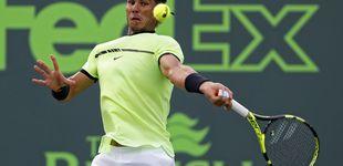 Post de Rafa Nadal se impone sin problemas a Sela en su debut en Miami