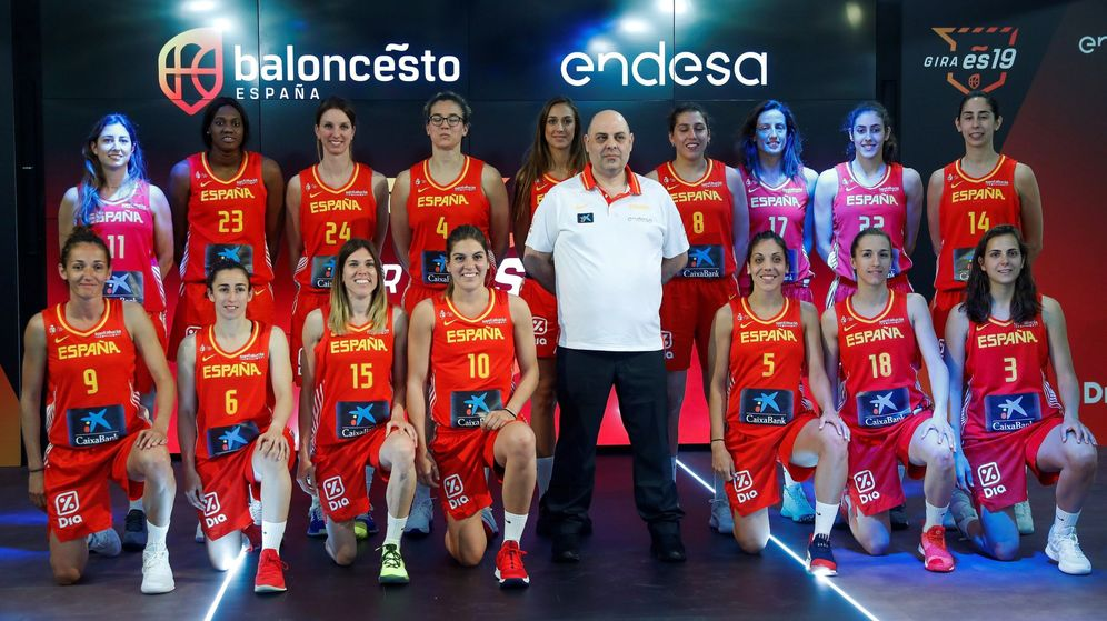 Foto: Presentación de la Selección absoluta femenina de baloncesto. (Efe)