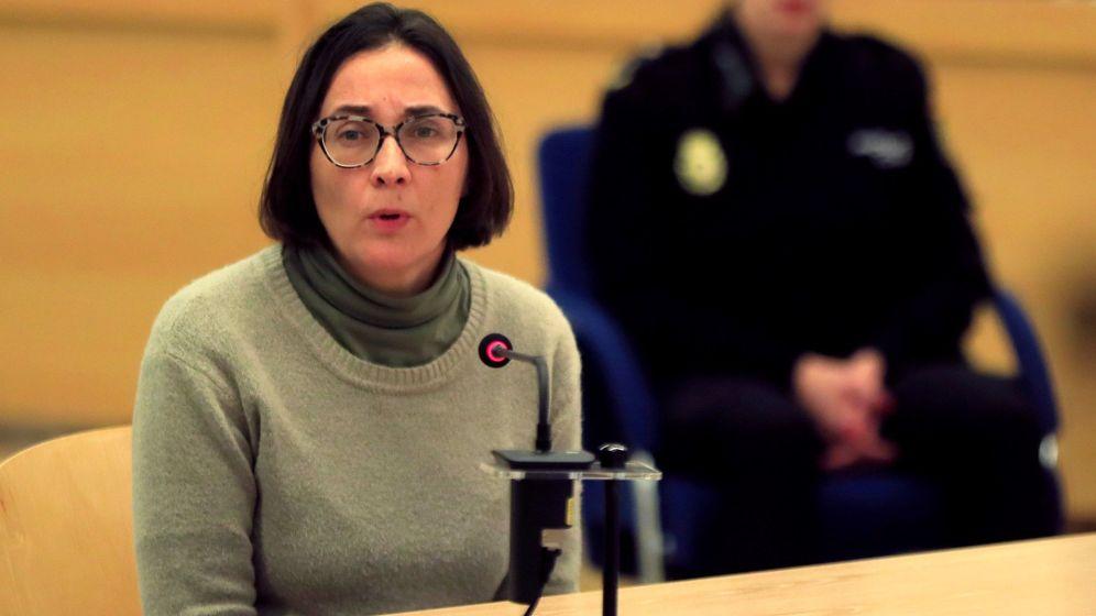Foto: La detenida, declarando en la Audiencia Nacional. (EFE)