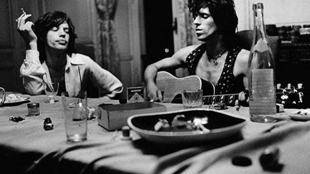 Foto: Escena rock habitual en los 70 con Mick Jagger y Keith Richards
