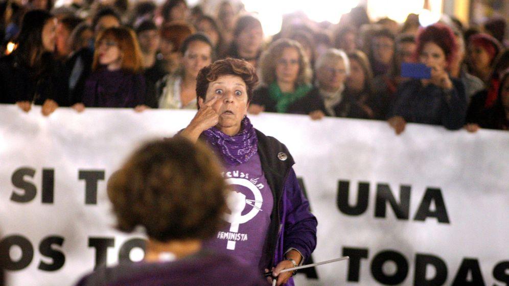Foto: Concentración feminista contra la violencia de género. (EFE)