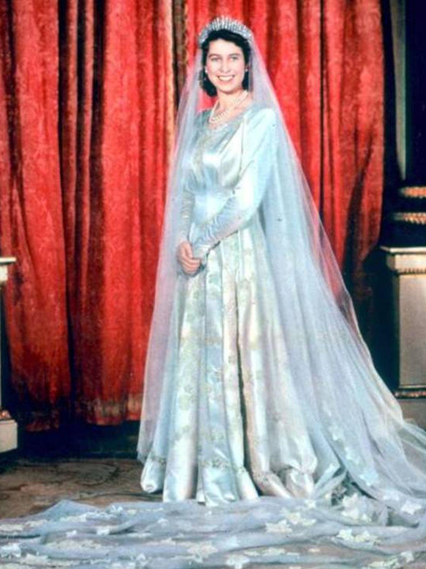 Isabel II, el día de su boda. (Cordon Press)