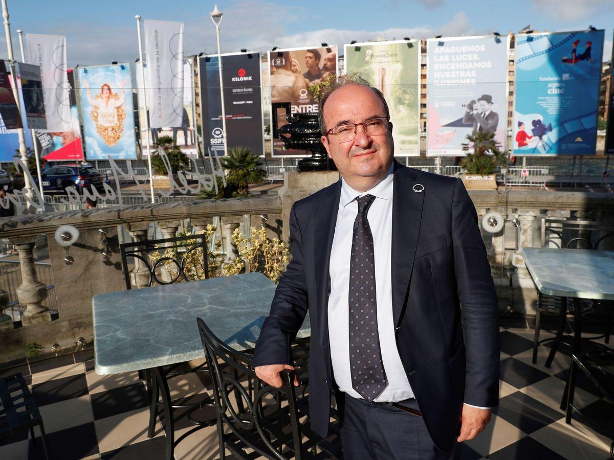 Foto: El ministro de Cultura, Miquel Iceta, en el pasado Festival de San Sebastián. (EFE)